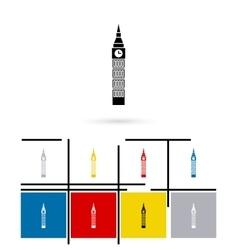 Big Ben in London icon vector image vector image