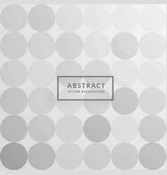 Gray circles background pattern design vector