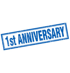 1st anniversary square stamp vector image