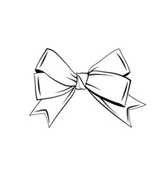 A bow ribbon gift in a vintage woodcut engraved vector image