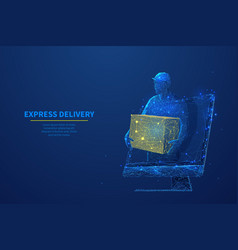 Abstract polygonal concept express delivery vector