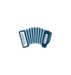 Accordion music detailed style icon vector