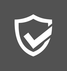 Active protection shield icon on a dark background vector