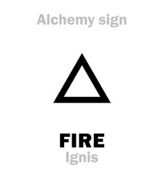 Alchemy fire ignis vector