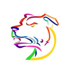 American staffordshire terrier ribbon art vector