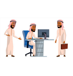 arab man office worker traditional clothes vector image