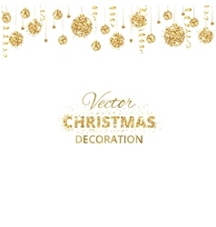 Background with hanging christmas balls and vector