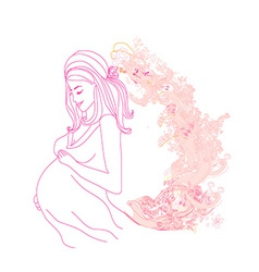 Beautiful pregnant girl vector image