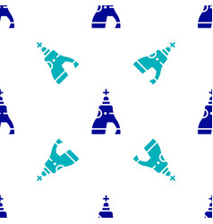 Blue the tsar bell in moscow monument icon vector
