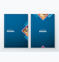 brochure template layout design dark blue vector image