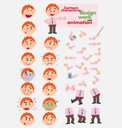 Busibessman template for design work and animation vector