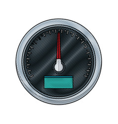 car speedometer interface dashboard panel for vector image