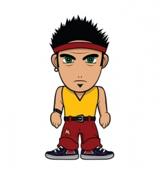 chibi guy punk vector image