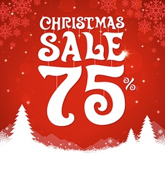 Christmas Sale 75 Percent vector image