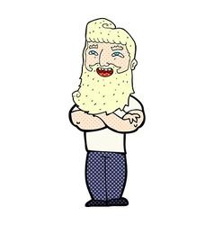 Comic cartoon proud man vector
