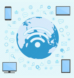 computer smartphone laptop and tablet vector image