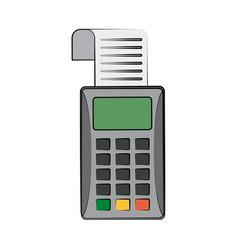 Dataphone eletronic money device vector