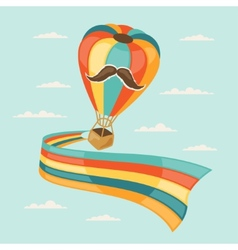 Design with air balloon in hipster style vector
