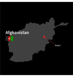 Detailed map afghanistan and capital city kabul vector