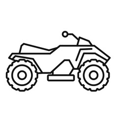 Dirt quad bike icon outline style vector