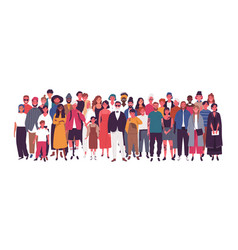 Diverse multiethnic or multinational group vector