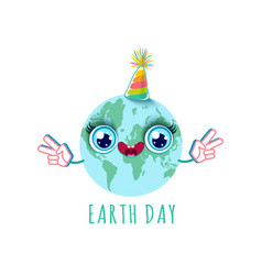 earth day party vector image