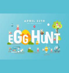 egg hunt banner vector image