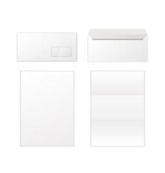 Envelope and letters template isolated on white vector