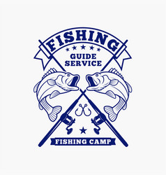 fishing fishing logo badge 3 vector image