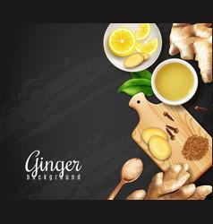 Ginger black background vector