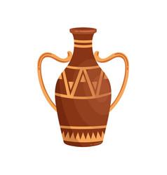 greek amphora with handles flat vector image