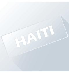 Haiti unique button vector