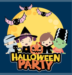 halloween party design vector image