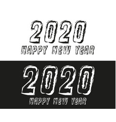 happy new year 2020 text typography design for vector image