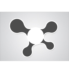 Infographic design with gray and white circles on vector image