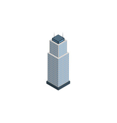 isolated apartment isometric tower element vector image