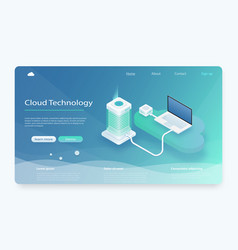 isometric modern cloud technology vector image