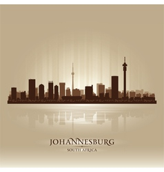 Johannesburg south africa city skyline silhouette vector