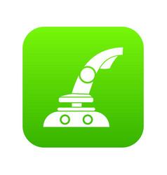 joystick icon digital green vector image