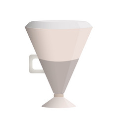 latte coffee layered glass cup with a handle milk vector image