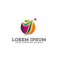 letter j logo sport people logo design concept vector image