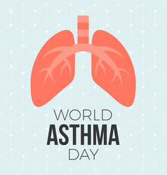 Lung and world asthma day vector