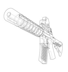 machine gun vector image