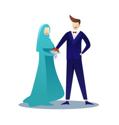 Marriage ceremony day vector
