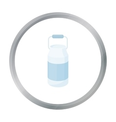 Milk cans icon cartoon Single bio eco organic vector