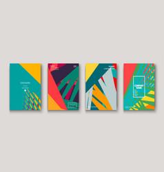 Modern cover collection design abstract retro 90s vector