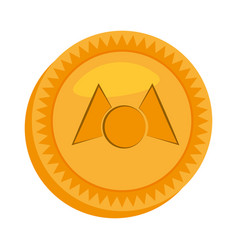 Money mastercoin golden icon vector