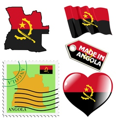 national colours of Angola vector image