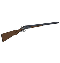 old double barrel hunting rifle vector image