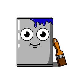 paint pot cartoon character vector image
